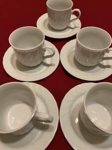 コーヒーカップ&ソーサー 5客セット