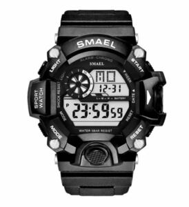 送料無料 新品 SMAEL メンズ腕時計 デジタルウォッチ 多機能 アウトドア 防水腕時計 G-SHOCK プレゼント ビッグフェイス ブラック スポーツ