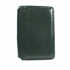 ルイ ヴィトン タイガ オーガナイザードゥポッシュ 2つ折り 名刺入れ カードケース エピセア(深緑) M30514 BCランク LOUIS VUITTON
