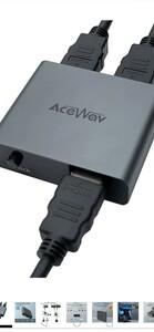 HDMI 切替器 4K 60Hz 双方向 1入力2出力/2入力1出力 メカニカルボタン 電源不要 HDM2.0 手動 切り替え