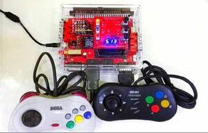 画面位置調整可 簡易コントロールボックス マイナス5Vあり サターンパッドとネオジオパッド対応 連射装置付ボタン配置換え可JAMMA 画面調整
