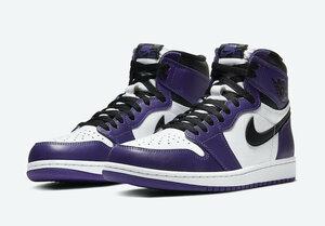 NIKE ナイキ AIR JORDAN 1 RETRO HIGH OG エア ジョーダン スニーカー 靴 新品 紫 コート パープル COURT PURPLE / BLACK - WHITE US9 27cm