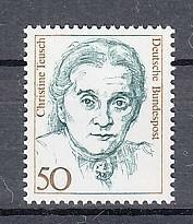 西ドイツ 1986年未使用NH 普通切手/著名女性/政治家/トイシュ#1304
