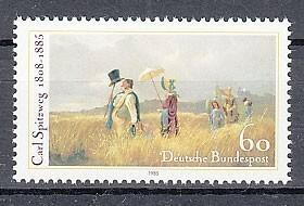 西ドイツ 1985年未使用NH 著名人/画家/シュピッツヴェーク#1258