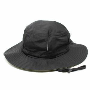 撥水加工 アドベンチャーハット 通気穴付き サファリハット ブラック fab 帽子