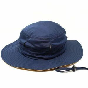 撥水加工 アドベンチャーハット 通気穴付き サファリハット ネイビー  fab 帽子