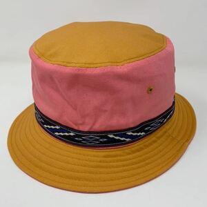 アドベンチャーハット サファリハット オレンジ ピンク faburous fab 帽子