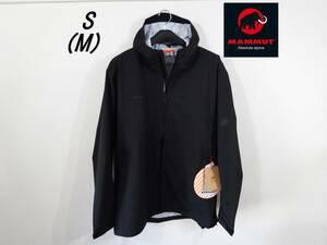 残1 ストレッチ 防水ジャケット レインジャケット S M 新品 マムート mammut レインウェア ジャケット カッパ 登山 アウトドア スポーツ 黒