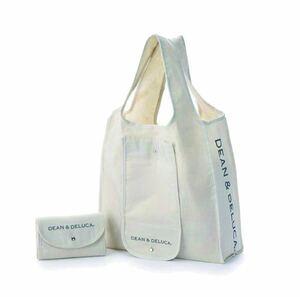 DEAN&DELUCA 折り畳み ショッピングバッグ /エコバックホワイト