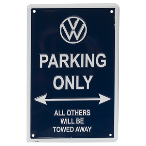 VW US純正 VW PARKING ONLY/メタルサイン【GENUINE PARTS】新品/パーキングサイン/