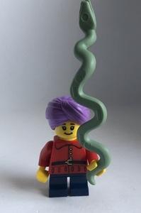 即決 新品 未使用 レゴ LEGO ミニフィギュア ミニフィグ シティ タウン かわいいヘビ使いの子供 大蛇 ターバン 男の子 女の子