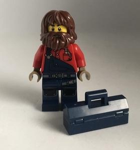 即決 新品 未使用 レゴ LEGO ミニフィギュア ミニフィグ シティ タウン エンジニア 工具箱 ヒゲ男