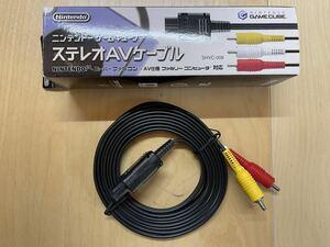Nintendo 任天堂 純正 AV仕様ファミコン / スーパーファミコン / NINTENDO64 / ゲームキューブ用 ステレオAVケーブル 美品