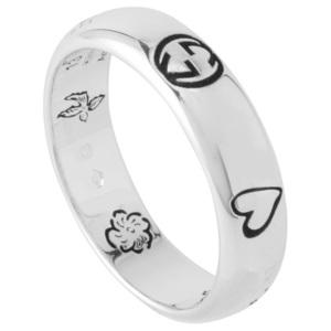 グッチ リング 指輪 GUCCI 455247-J8400-0701 13号 ブラインド フォー ラブ エングレービング シルバー 日本サイズ12号 レディース メンズ