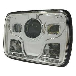 車検対応メッキ LEDプロジェクターヘッドライト RX 400 1100 1200DAEG GPZ 400 750 1100 900R GSX1100S CBR400 GSX RX400角型 角目 汎用