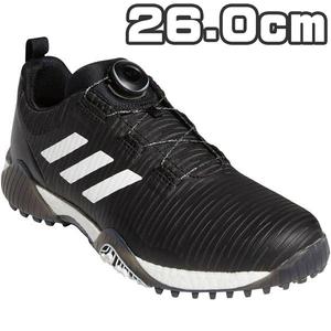 2020年 【26.0cm】アディダス メンズ コードカオス ボア スパイクレス ゴルフシューズ FV2524 ブラックホワイトグレー 新品