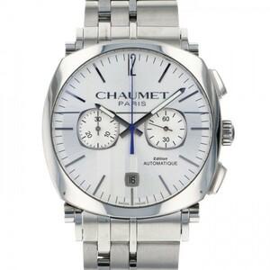ショーメ CHAUMET ダンディ クロノグラフ W11690-30B シルバー文字盤 中古 腕時計 メンズ