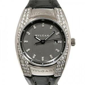 ブルガリ BVLGARI エルゴン ベゼルダイヤ EGW30G グレー文字盤 中古 腕時計 レディース