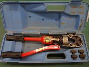 ●泉精器製作所 IZUMI イズミ 手動油圧式 圧着工具 9H-150 オスダイス 4個付 ●0
