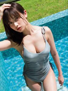 桃月なしこ3 グラビア モデル L版写真10枚 水着