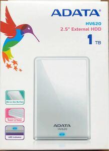 新品 ポータブルハードディスク 1TB HV620 WHITE AHV620-1TU3-CWH ホワイト 2.5インチ