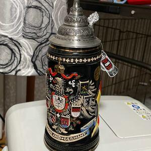 ビールグラスドイツ製 ビア ビールジョッキ ジョッキ 陶器 蓋付き 蓋付 Germany 西ドイツ