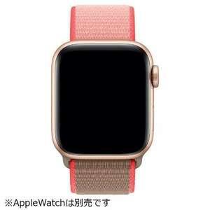 送料無料 新品未開封品 apple watch純正品バンド 42mm/44mmケース用 ネオンピンクスポーツループ MXMU2FE/A アップル正規品