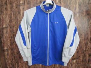 中古 ナイキ ジャージ メンズ Lサイズ NIKE 上着 ブルー青 ジップアップ トップス トレーニングウエア ジャケット スポーツウェア 送料無料