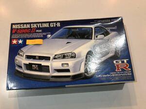 【当時物】★タミヤ★ TAMIYA スカイラインGT-R V-spec�U R34 1/24 未組立 プラモデル 美品 日産 NISSAN GT-R No.339