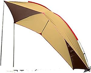 【防水カーサイドタープ】 ポール ペグ ロープ付き 耐水圧3000mm 遮光 日陰 遮熱 車中泊 キャンプ レジャー アウトドア ブラウン