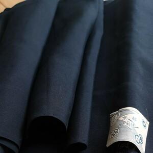 黒色 着物生地 幅35cm×約950cm