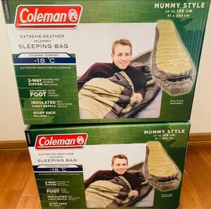 新品未開封 コールマン 寝袋 2個
