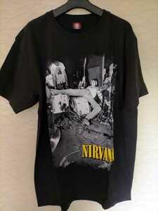 【新品】NIRVANA黒TシャツLサイズ90sバンドブームカート泥酔ドラム