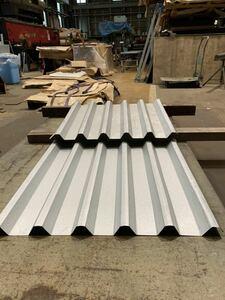 簡単施工スレート大波カバー改修用、新設屋根、壁に使用可能