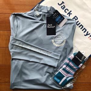 送料無料ジャックバニーbyパーリーゲイツ最新メンズJBハイネックシャツ高性能COOLコア冷却UVカット/JB接触冷感ソックス(3)お買得セット新品