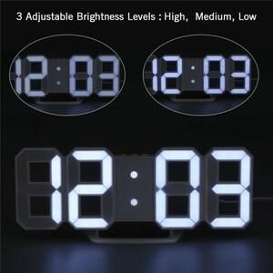 【激安】7 ☆ インテリア 壁掛け時計 デジタル ウォールクロック 選べる4色 LED Digital Numbers Wall Clock