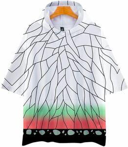 激安送料無料・鬼滅の刃 胡蝶しのぶ コスプレ 衣装 半袖 tシャツ パーカー 110