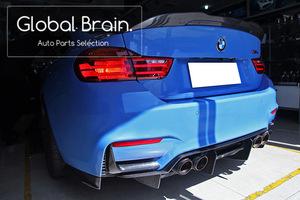 BMW F80 M3 F82 F83 M3 M4 カーボン リア サイド リップ スプリッター / スポイラー スパッツ バンパー ディフューザー エプロン エアロ
