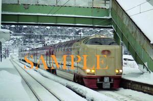 F【鉄道写真】L版1枚 285系 サンライズ出雲 伯備線