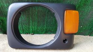 O#100 サンバートラック KS4 平成2年7月 純正左ヘッドライトベゼル 助手席側 L ウインカー マーカー2110L