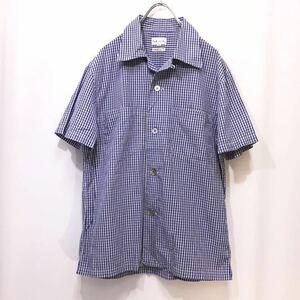 【送料360円】Paul Smith LONDON ポールスミス ロンドン 半袖シャツ 男性用 メンズ Mサイズ 柄シャツ オープンカラー 日本製 O-867