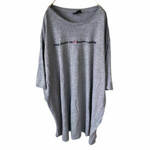 YR156 ポロジーンズ POLO JEANS CO. USA製 半袖 Tシャツ 刺繍 ロゴ 霜降りグレー ビッグサイズ ラルフローレン メンズXXL nn