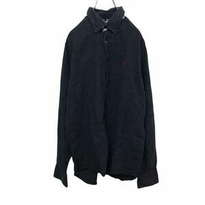 YT2248 km Polo Ralph Lauren ポロラルフローレン 長袖シャツ ボタンダウンシャツ 薄手 ブラック