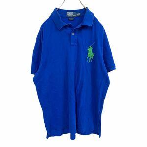 YT2200 AY RALPH LAUREN ラルフローレン POLO shirt ポロシャツ 半袖 ビッグポニー 青 緑 ブルー グリーン ビッグサイズ