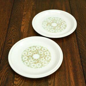 IZ49344I○2枚セット HORNSEA フルール プレート 大皿 26cm 英国 ヴィンテージ ホーンジー fleur イギリス ビンテージ デザート 食器 花柄