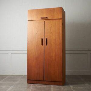 IZ50622F○イギリス ヴィンテージ ワードローブ JS sakol furniture チーク 木製 キャビネット クローゼット ビンテージ 木製 収納家具