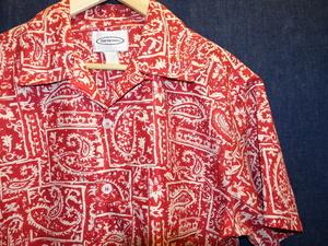 USA 古着 卸 ビッグ シルエット オープンカラー 開襟 ペイズリー 柄 半袖 シャツ / ビンテージ ヴィンテージ アロハ ハワイアン