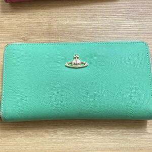 【最終値下】長財布 Vivienne Westwood ヴィヴィアンウエストウッド ラウンドファスナー 財布 グリーン 緑