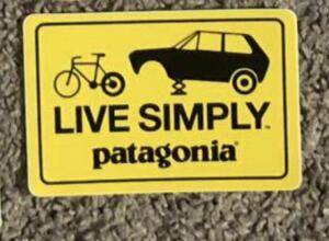 パタゴニア LIVE SIMPLY ステッカー 2枚