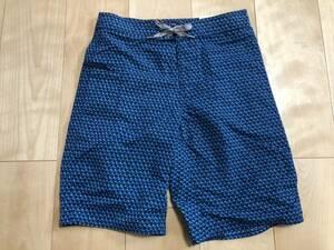 新品 パタゴニア Boy's Wavefarer Board Shorts 10 青系柄 サーフパンツ PATAGONIA ボーイスボーディショーツ